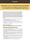 Checklist voor verwanten bij preventie en aanpak van onbegrepen gedrag (2015)