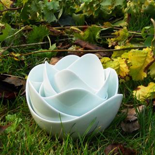 Spin<br />Green White lotus schalen set</p>