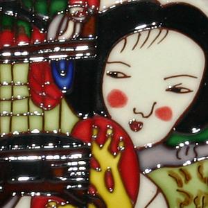 Pureland<br />Schilderijtje met tegel</p>