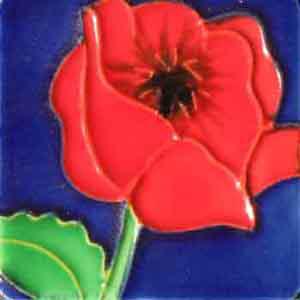 Pureland<br />Tegelmagneet met bloem</p>