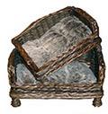 Sofa riet bruin.