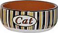 Katten-eetbak gestreept.