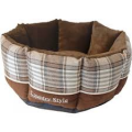 """Boony mand 8-hoek """"Country Style"""" bruin"""