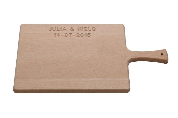 Snijplankshop.com - Tekstgravering in uw houten snijplank