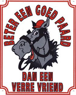 Goed paard/Vriend