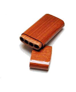 Houten sigarenkoker 4 pannatella