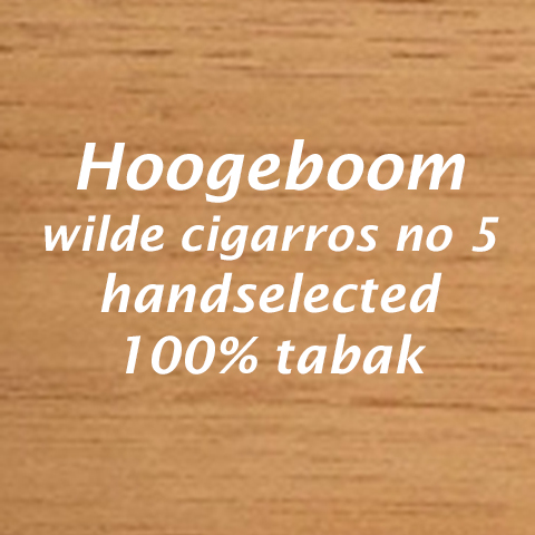 Hoogeboom wilde cigarros No 5