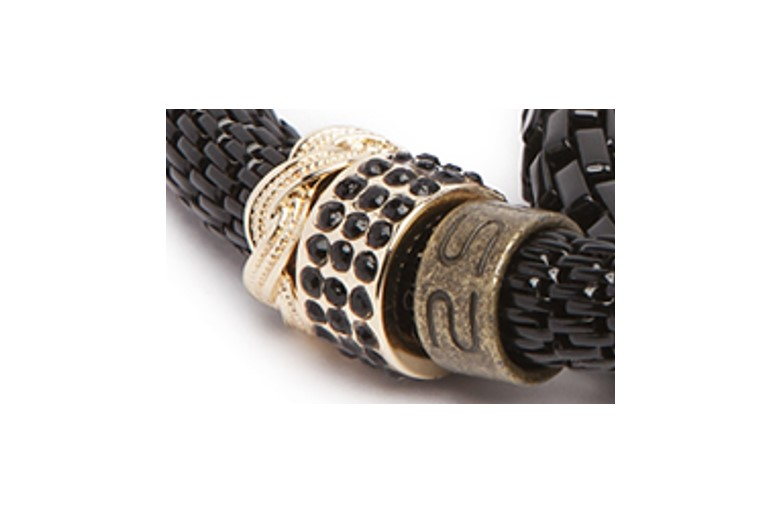 THE SNAKE STRASS BRACELET | ALL BLACK EVERYTHING & CLOVER