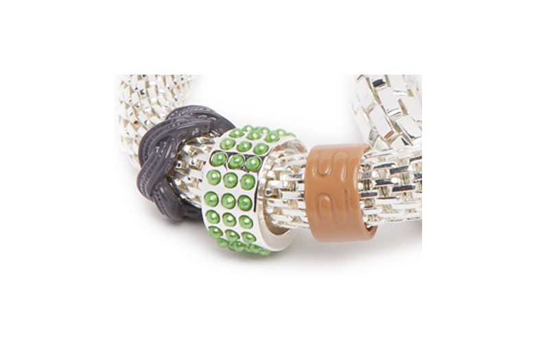 The Snake Strass So Silver & Pearl | Silis Bracelet