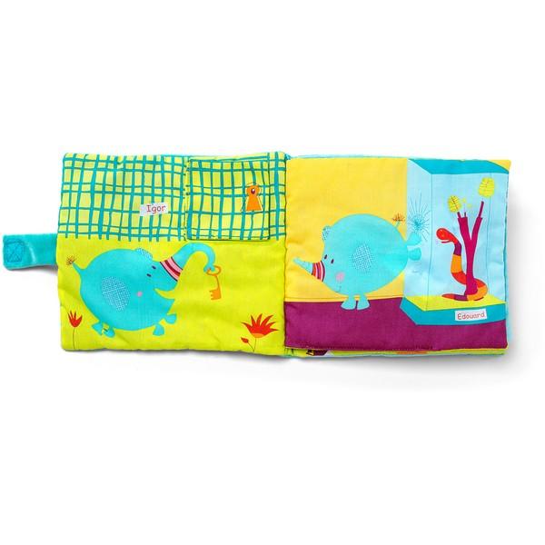Babyboek stof olifant Albert in de Dierentuin