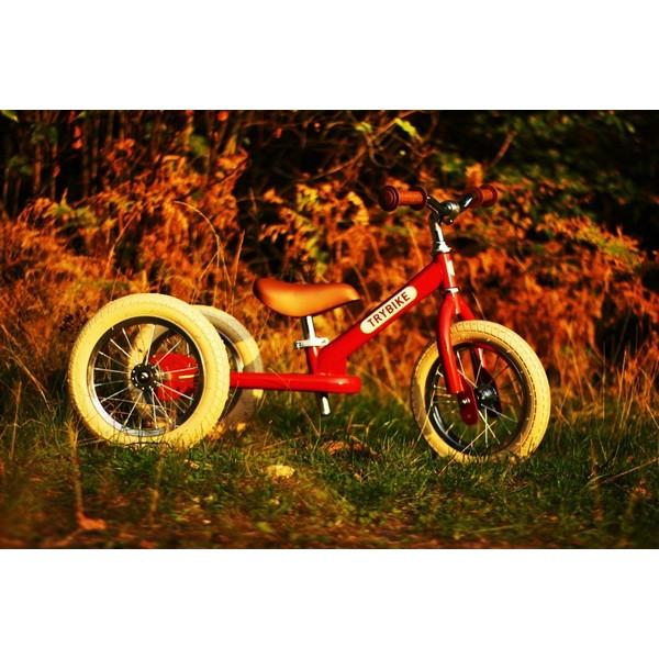 Trybike Staal Vintage Bordeaux Rood driewieler