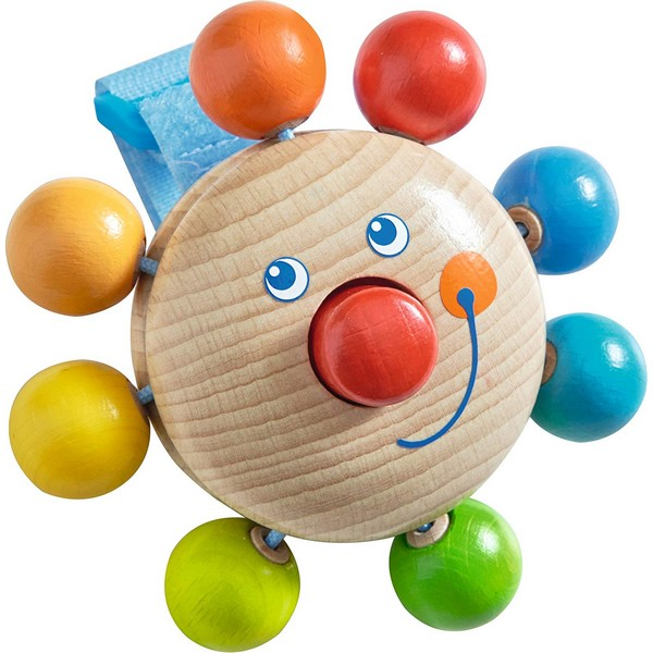 Grijpfiguur hout Clown