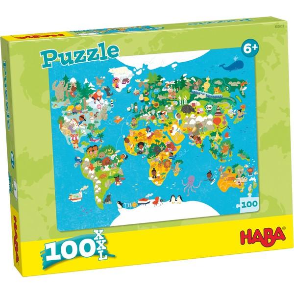 XXL Puzzel Wereldkaart