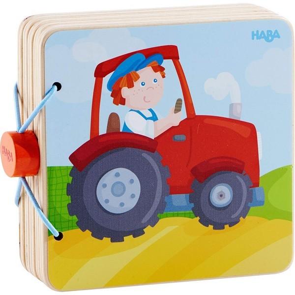 Babyboek hout Tractor
