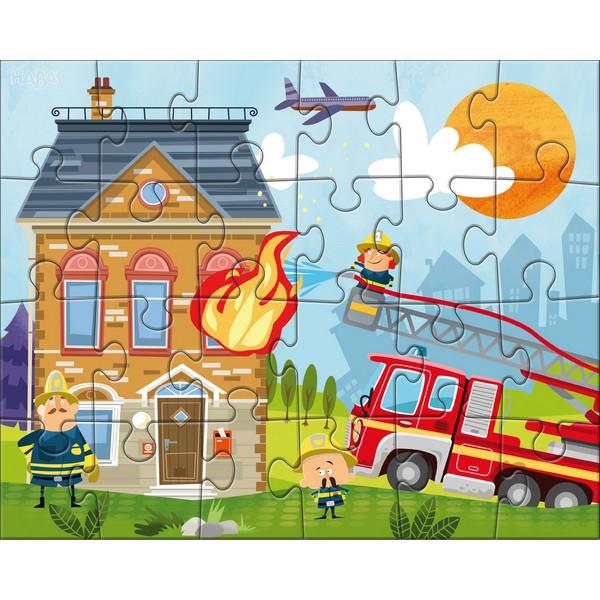 3-in-1-Puzzel Kleine Brandweerkazerne