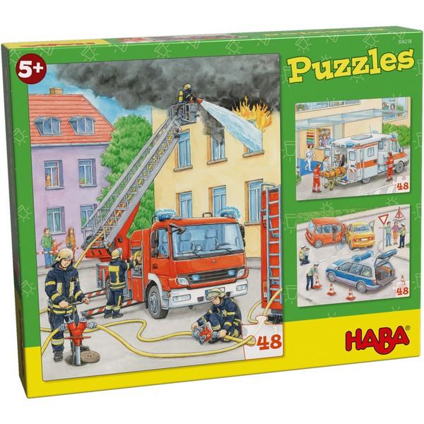 3-in-1-Puzzel Hulpvoertuigen