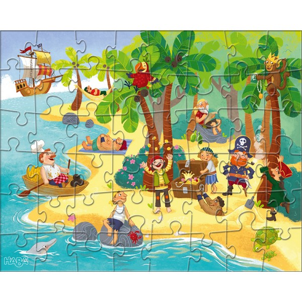 3-in-1-Puzzel Piraat & Co