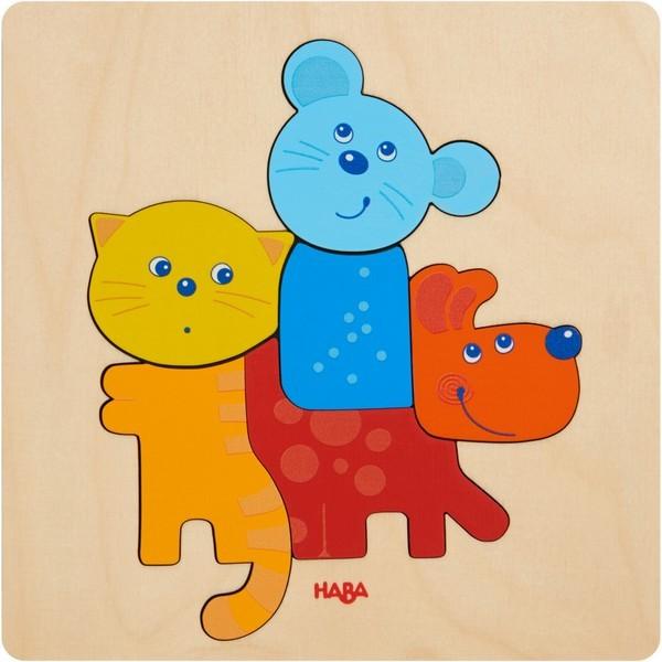 Houten Puzzel Huisdieren