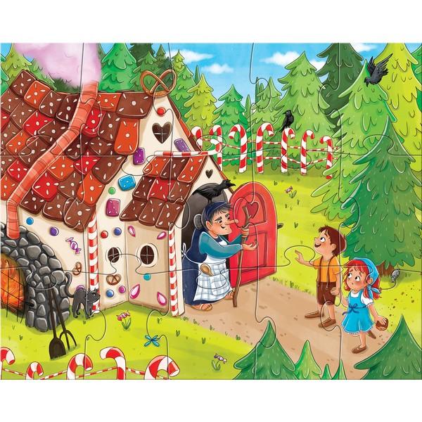 4-in-1-Puzzel Sprookjesland