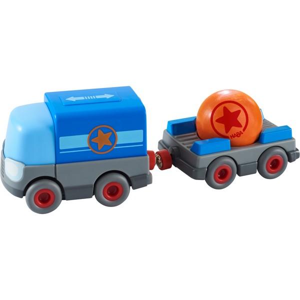 Rollebollen Kullerbü Vrachtwagen met aanhangwagen op batterijen
